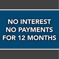 No interest, no payments for 12 months