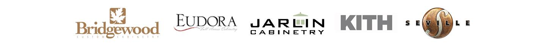 Cabinetry Brands: Bridgewood Custom Cabinetry, Eudora, Jarlin, Kith and Seville