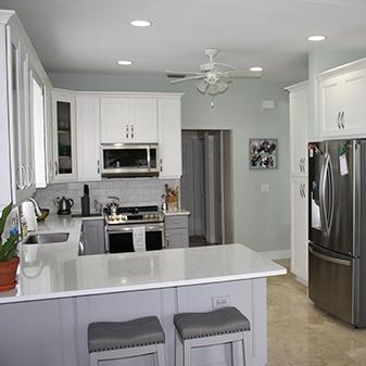 Cabinets: Jarlin model SG. Soda Uppers, and Sterling Lowers - Backsplash: 4' x 8