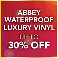 Save up to 30% off of Abbey waterproof luxury vinyl flooring at Flooring USA